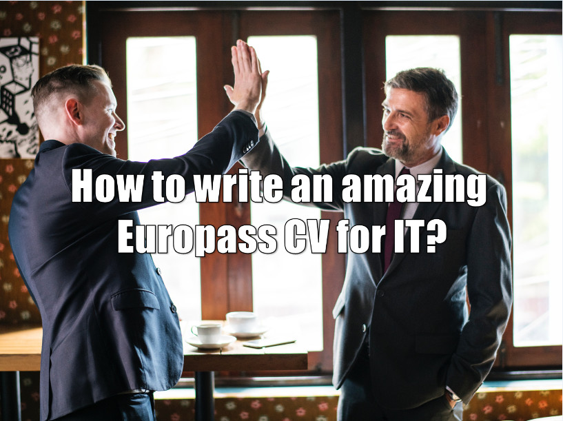 how to write an amazing europass cv template in it