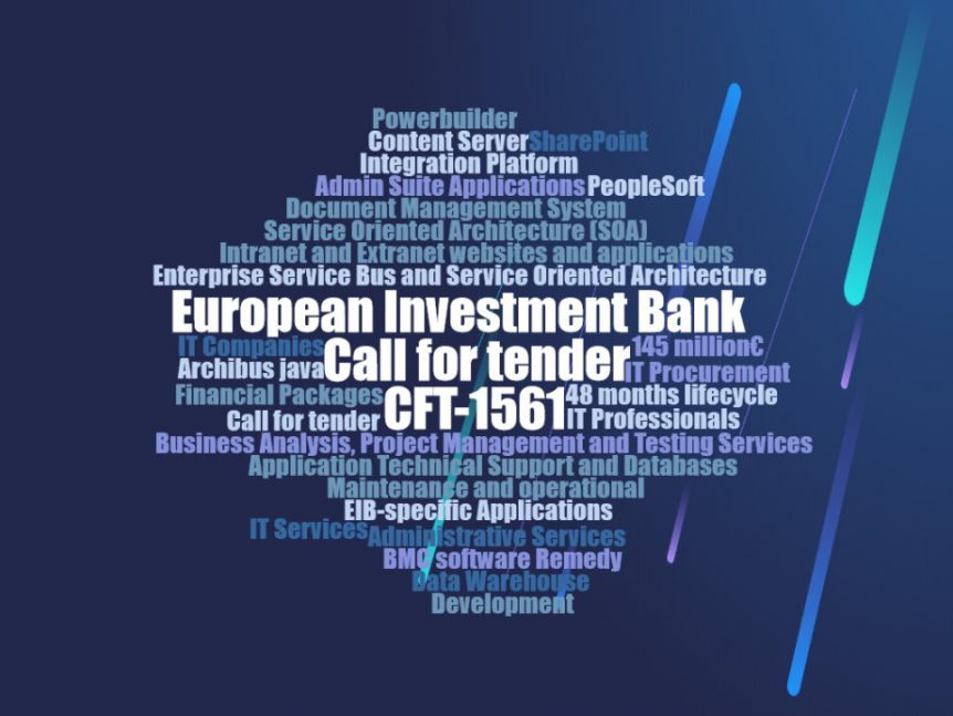 European Investment Bank Call for tenders CFT-1561