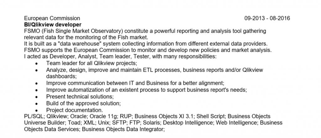 Job description optimized for ATS parsing