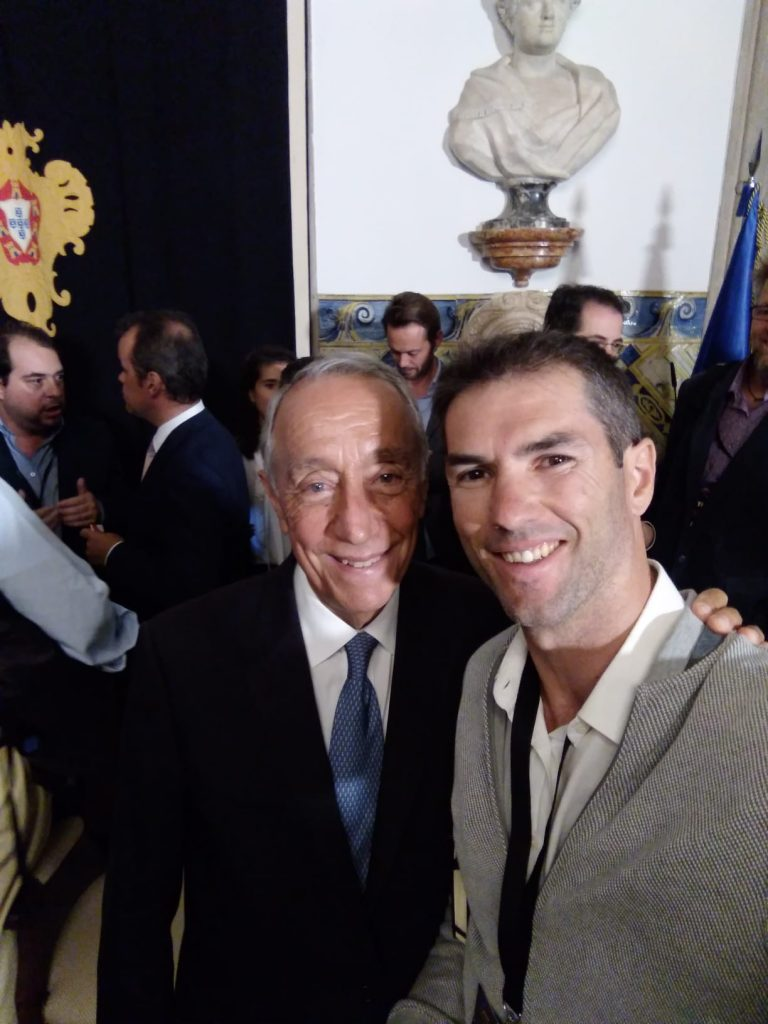Pitching to the portuguese president Marcelo Rebelo Sousa at Web Summit recepetion