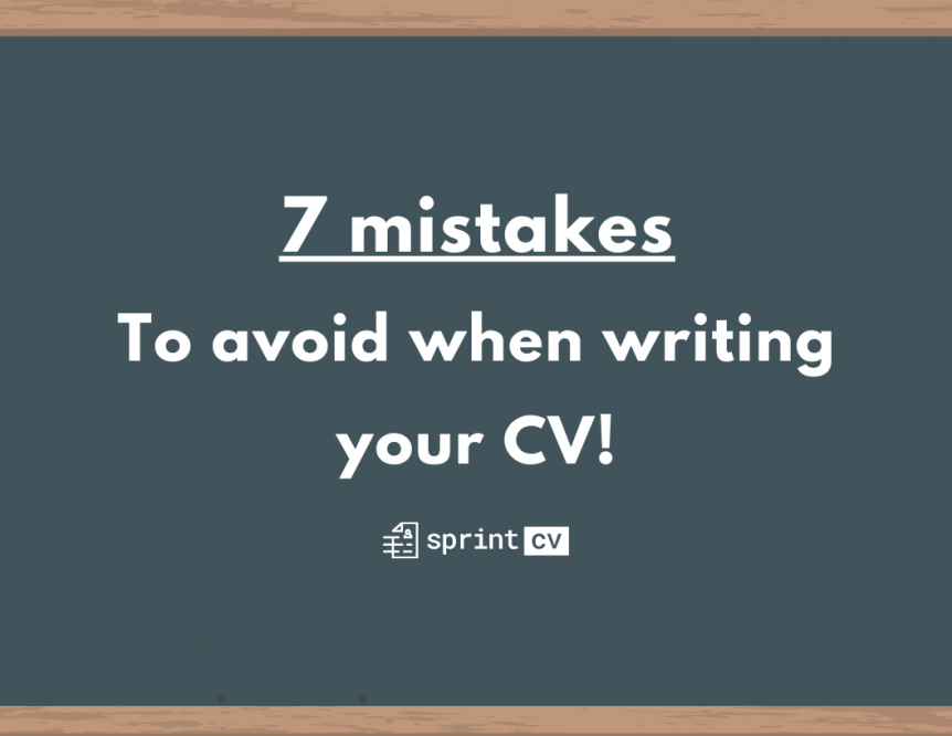 List of top mistakes to avoid when writing an IT CV - Sprint CV