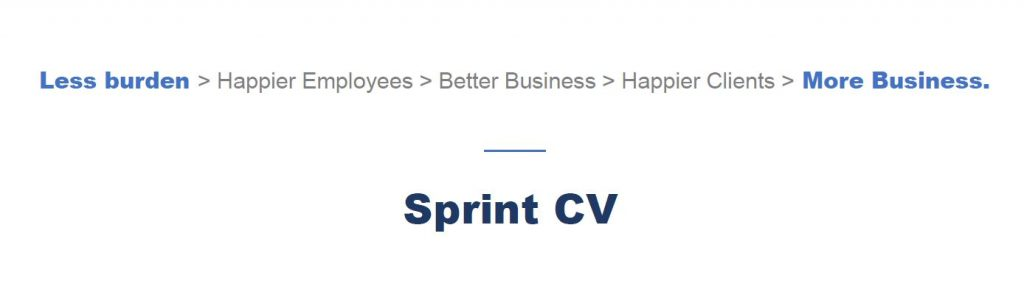 Sprint CV helps companies to be more efficient