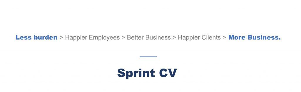 Less burden equals more business - Sprint CV
